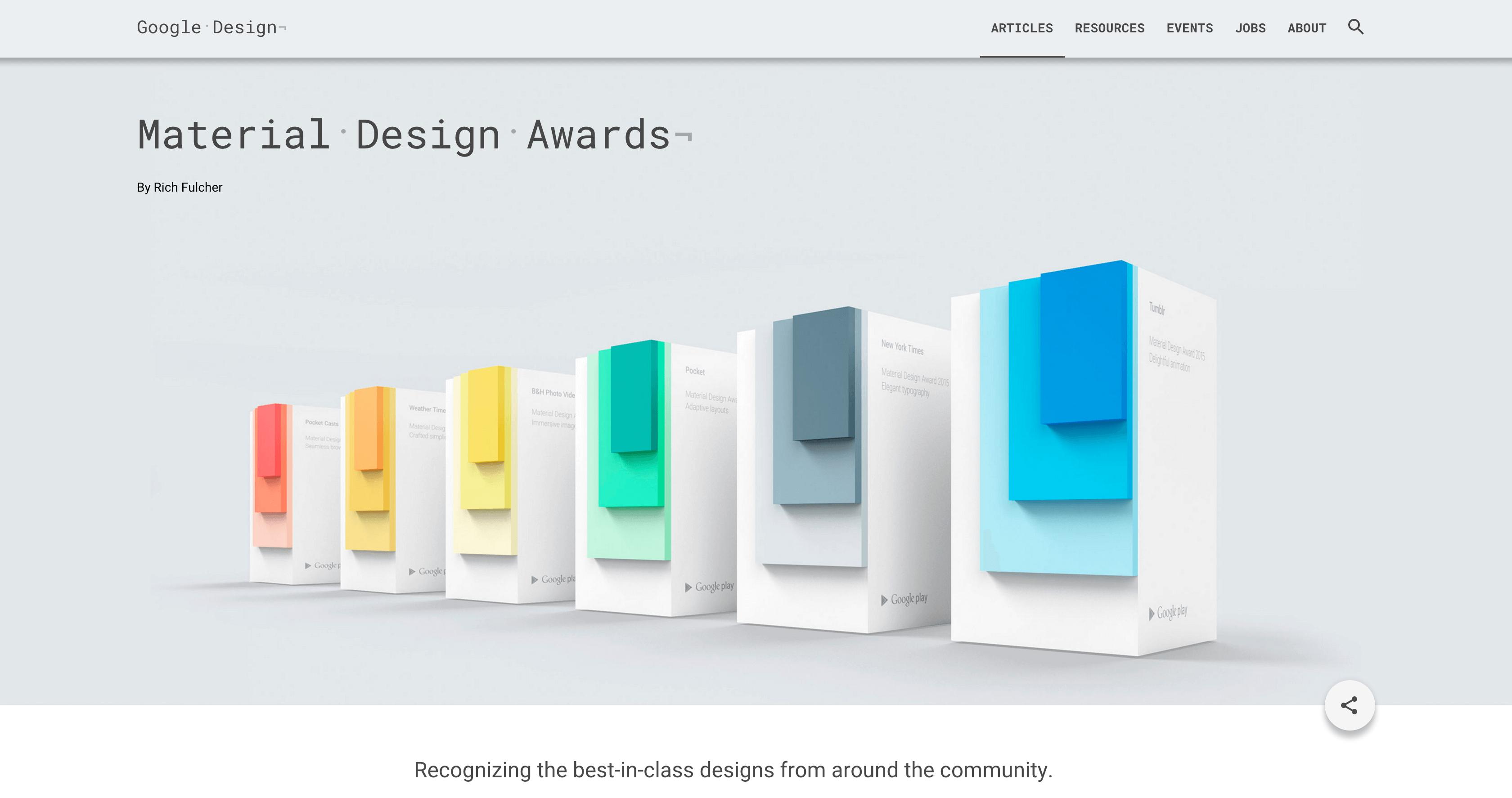 Google公式のマテリアルデザインガイドでは重なりがアピールされている。